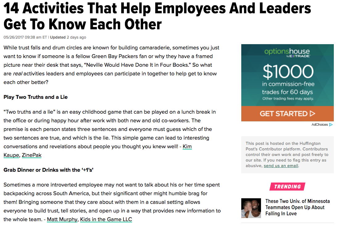 14 Activities That Help Employees And Leaders Get To Know